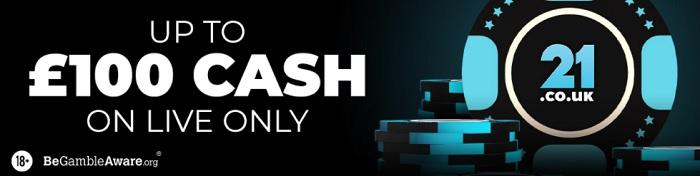 21.co.uk Casino Bonus